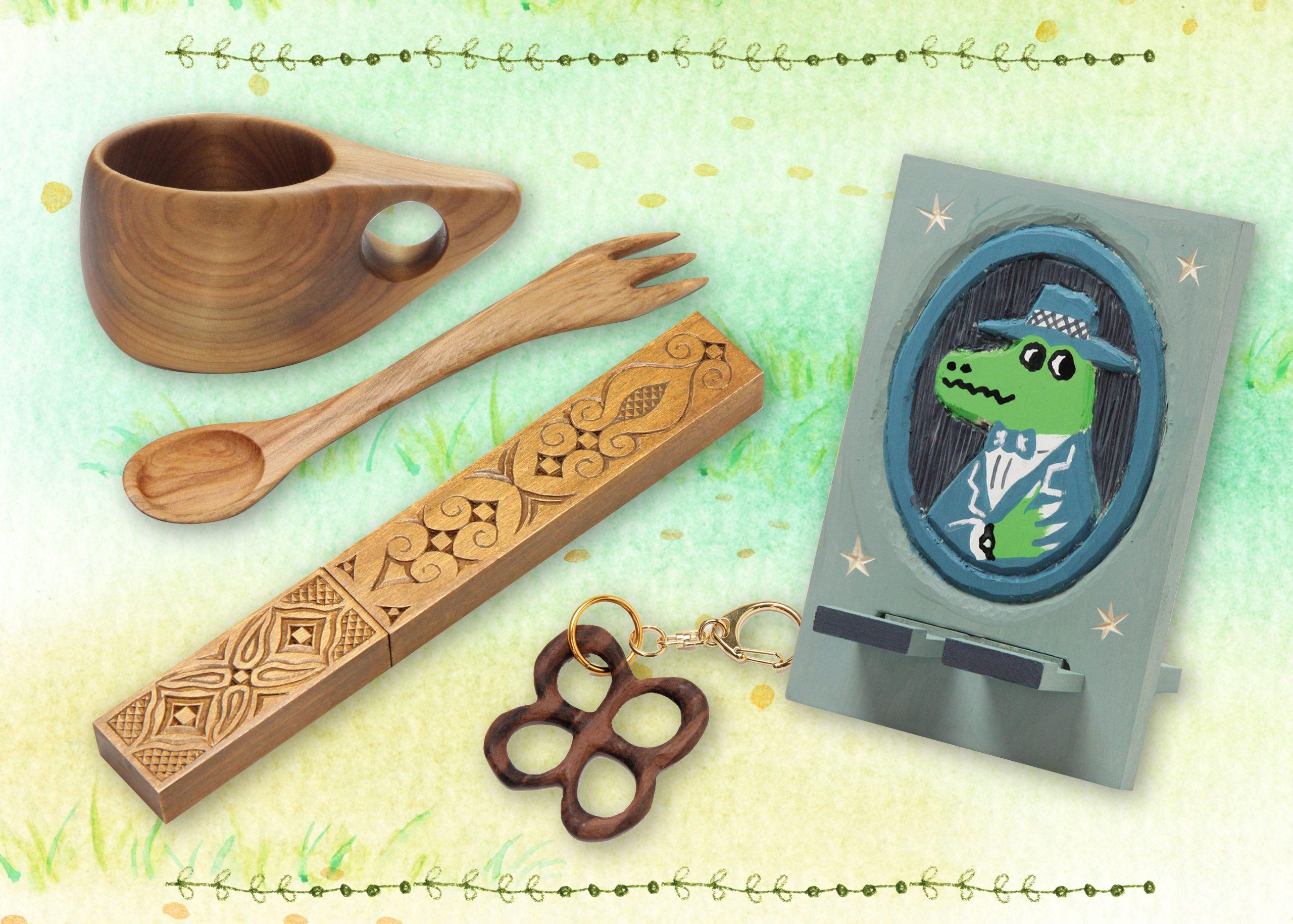 木彫素材のメイン画像