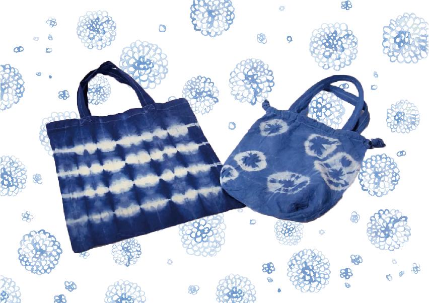 """水染めできる藍染め染料 """"大和藍"""" で絞り染めのメイン画像"""