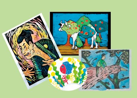 木版画やスニップアートで凸版画を体験しよう!のメイン画像