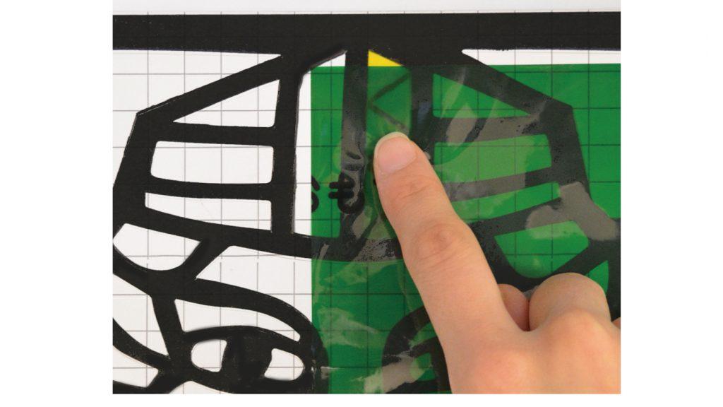 プッシュカラーですてきなステンドグラスをつくろう説明画像