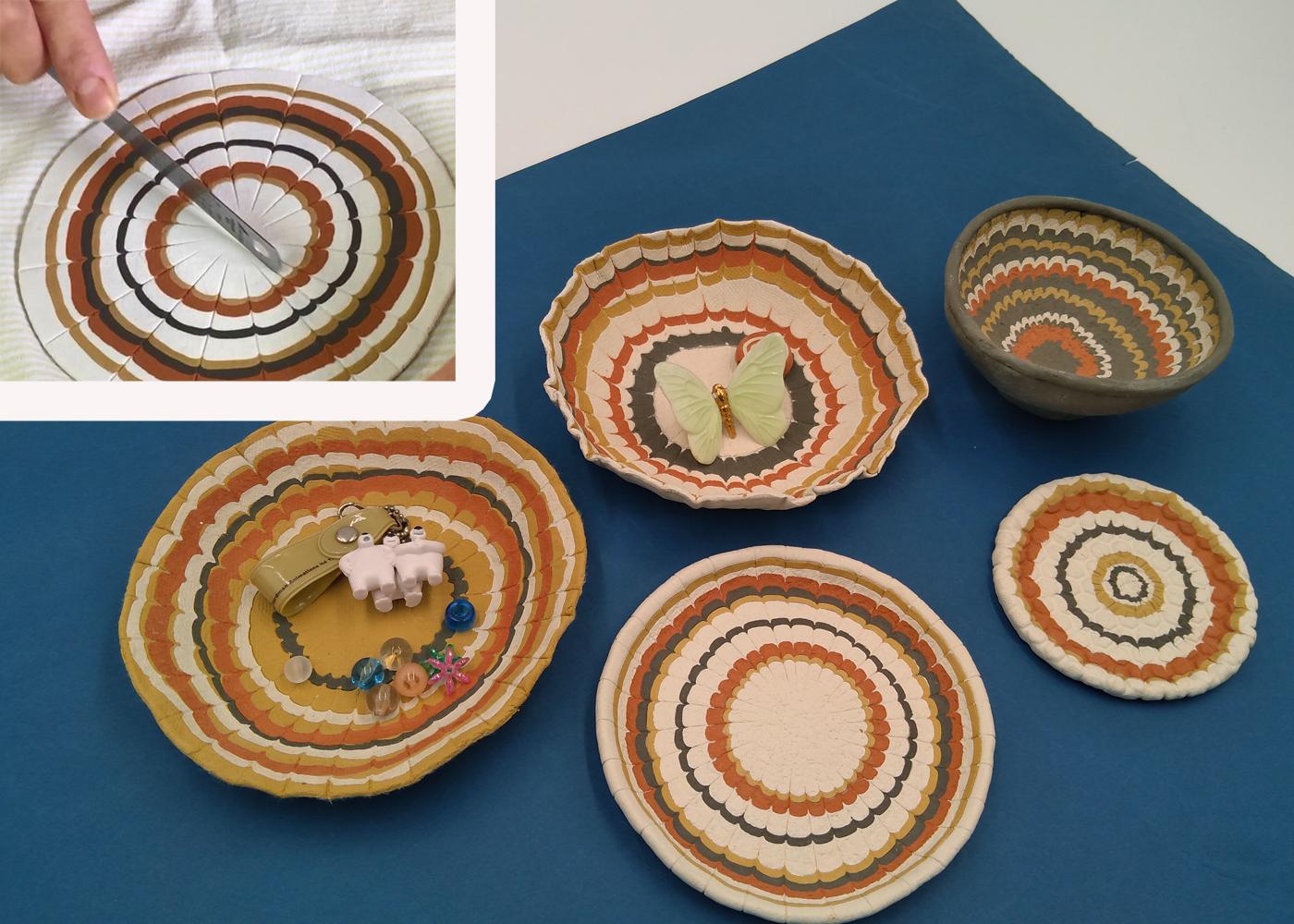 ひなたぼっこ4色を使った不思議な模様の小皿づくりのメイン画像