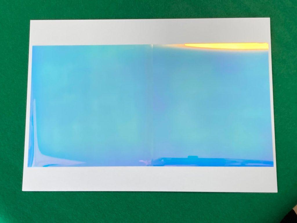 オリエステルおりがみⓇで作る立体ホログラムアート説明画像