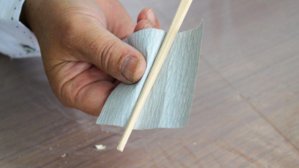 水性工芸うるしで仕上げるマイ箸づくり説明画像