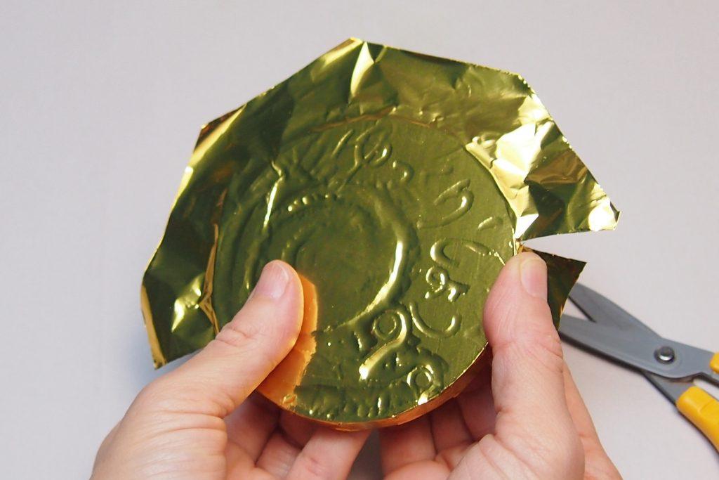 金・銀・銅のアルミ箔でメダルをつくろう!説明画像